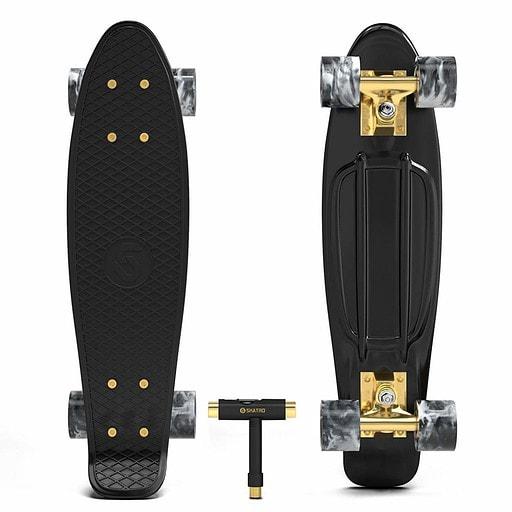 Skatro Mini Cruiser Skateboard Retro Style Plastic Board
