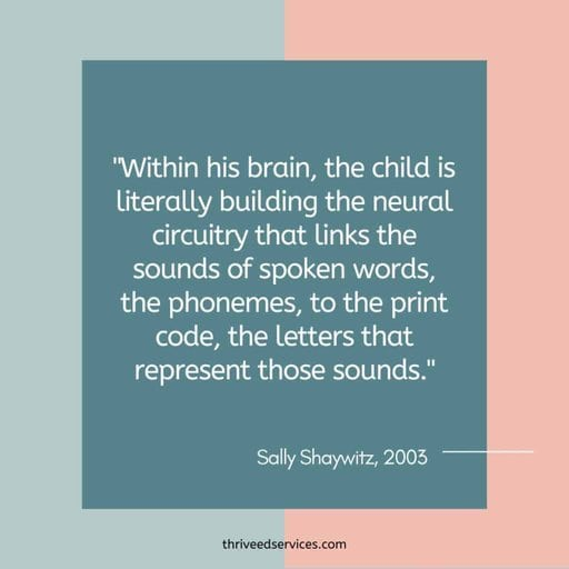 Sally Shaywitz quote about the neuroscience of reading