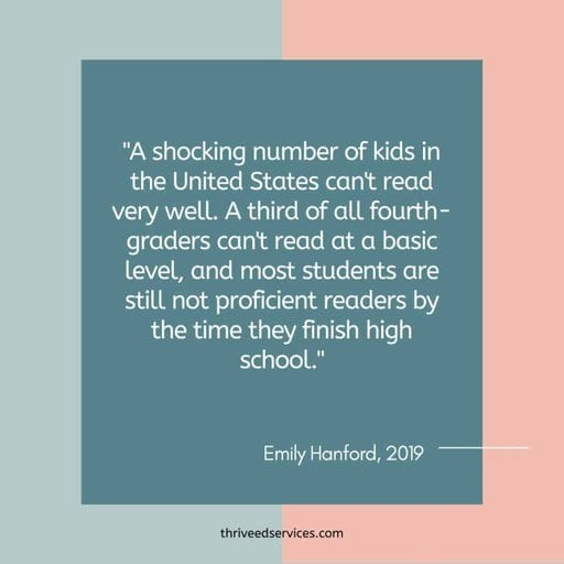 Emily Hanford quote about most students not becoming proficient readers