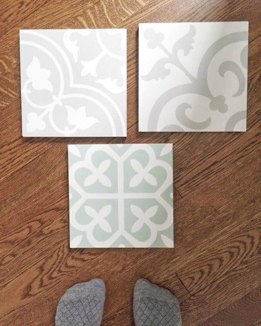 One Room Challenge Week 2 - Cement Tile Floors Installed