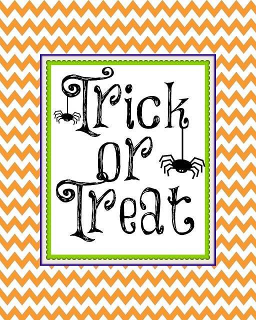 Second Chance to Dream: Trick or Treat printable