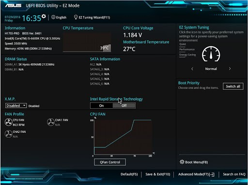 atualizar a BIOS