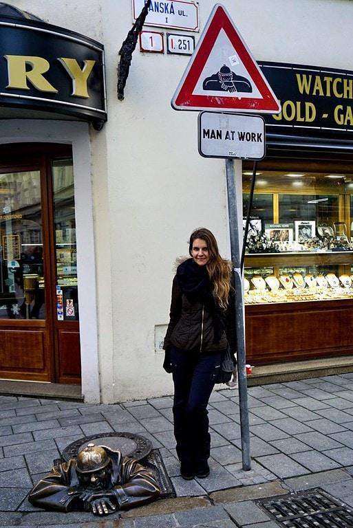 Man at Work Bratislava Slovakia – Experiencing the Globe