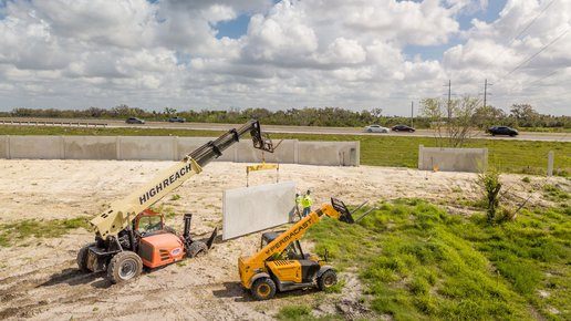 Precast concrete fence installation by Permacast