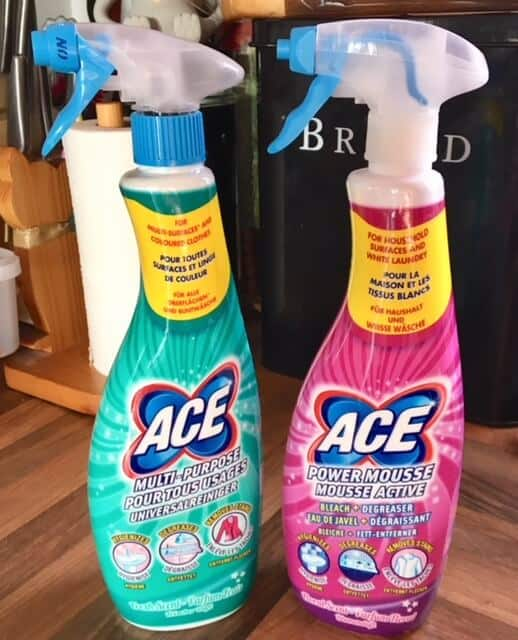 Washing Clothes with ACE cleaning products