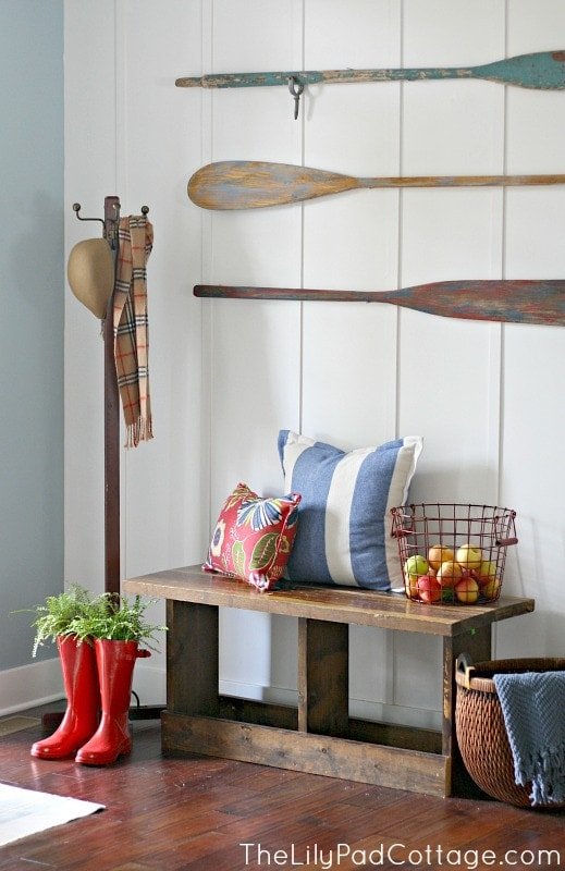 Planked Entry way and fun decor ideas