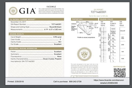 perhiasan berlian sertifikat