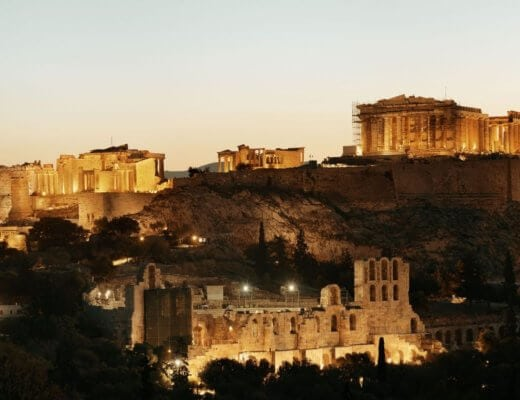Visiting the Acropolis at night