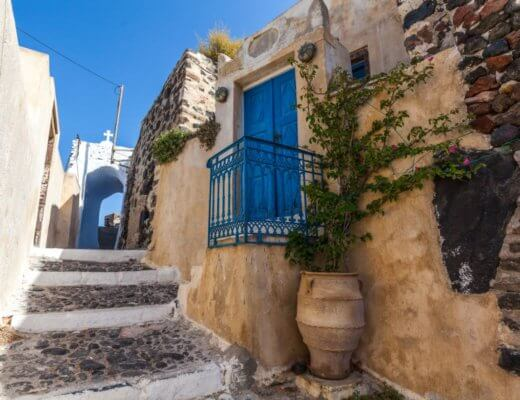 walking tour of pyrgos, santorini village