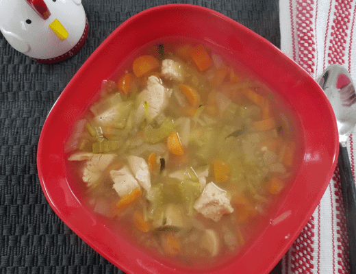 This Instant Pot Weight Watchers Chicken Zoodle Soup recipe is a great option for a delicious zero point meal that will satisfy your cravings and fit your diet!