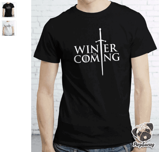 simple game of thrones print tee