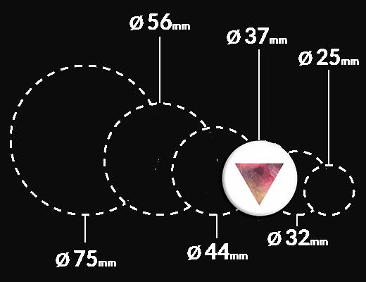 magnes kolorowy trójkąt