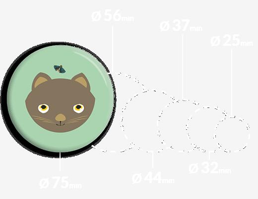 Magnes na lodówkę kotek