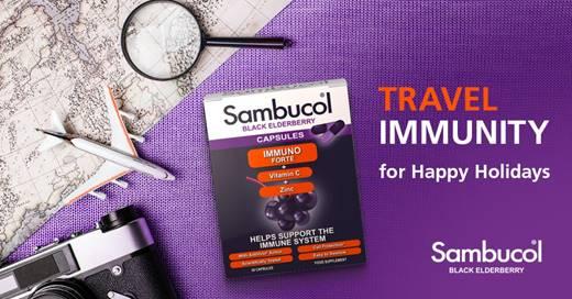 Sambucol Immuno Forte range of natural and effective Black Elderberry supplements