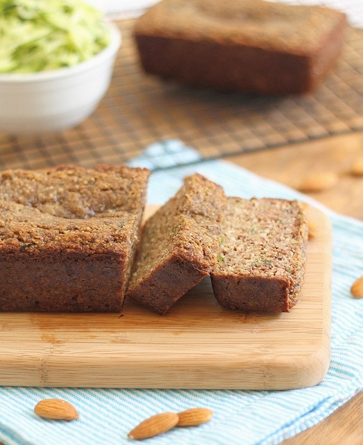 Paleo zucchini bread made with almond flour is a moist grain free treat!