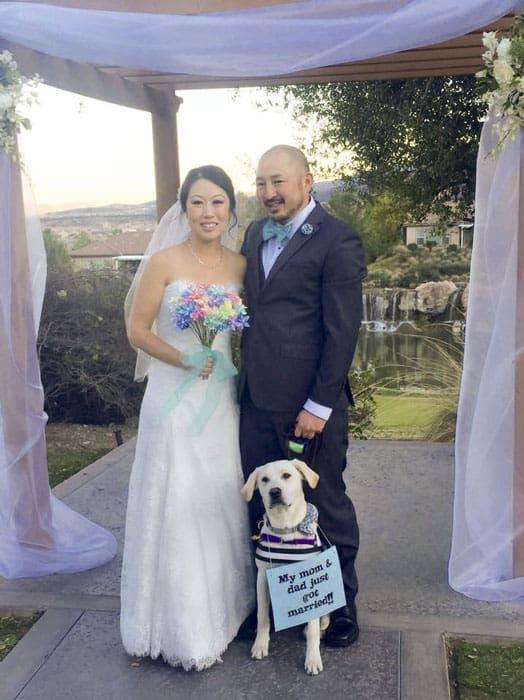 Ali, Colby, Archer Wedding Pic