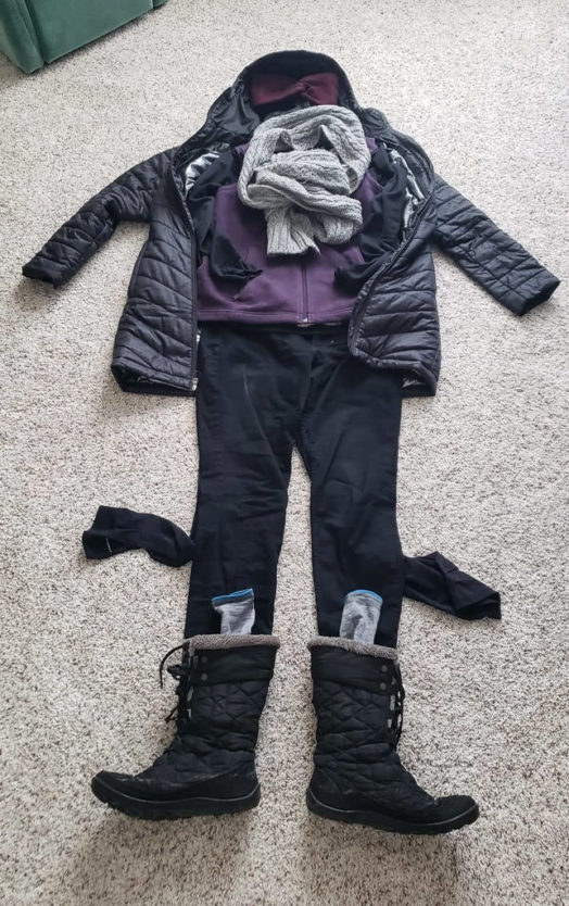 women's winter outfit for europe