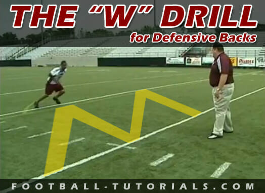 the w drill defensive back drill