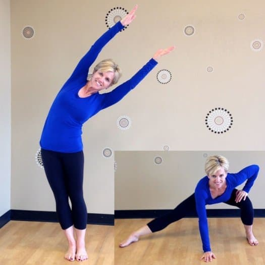 Tree lean to side lunge