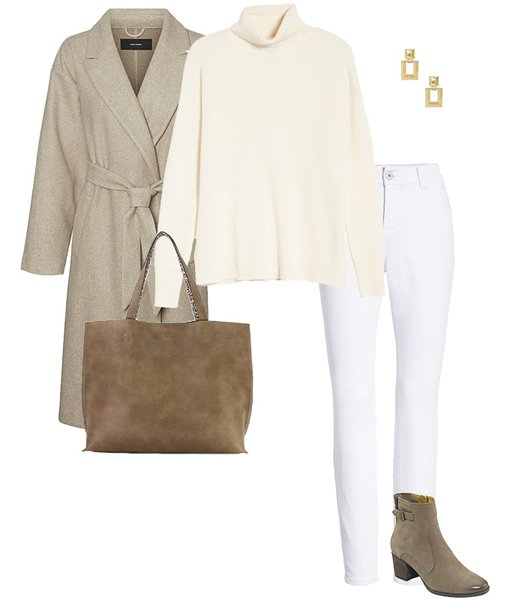 How to wear a sweater: all neutrals | 40plusstyle.com