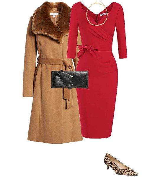 Christmas party outfit 1: Red | 40plusstyle.com