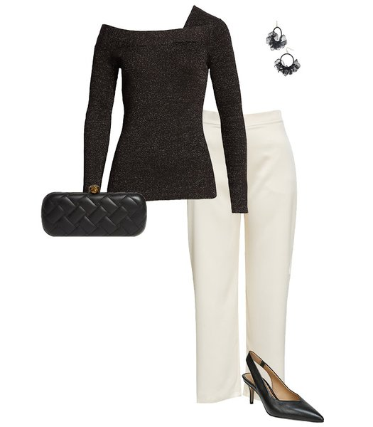 Party sweater outfit | 40plusstyle.com