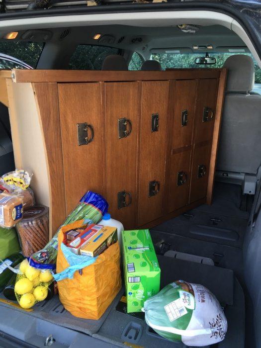 Goodwill dresser in Sienna minivan