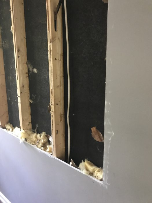 wire in wall studs