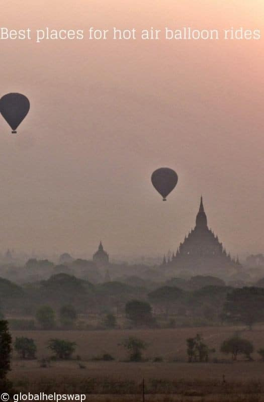 Best places for hot air balloon rides 3