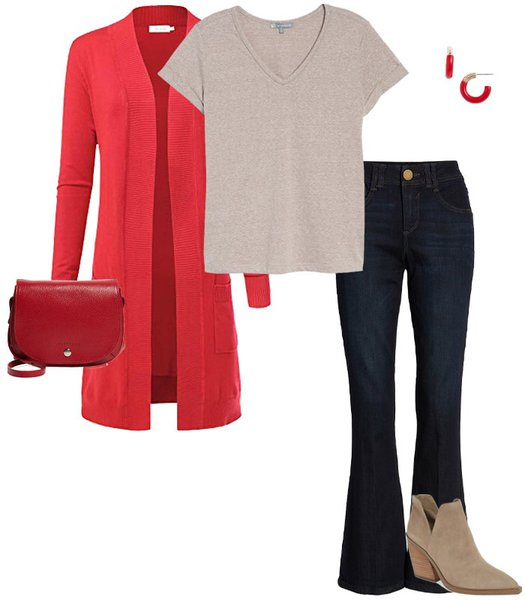 Red Outfits - disguise your belly with the right clothes | 40plusstyle.com
