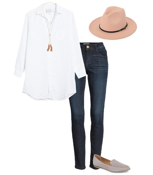 a classic white shirt with your jeans | 40plusstyle.com