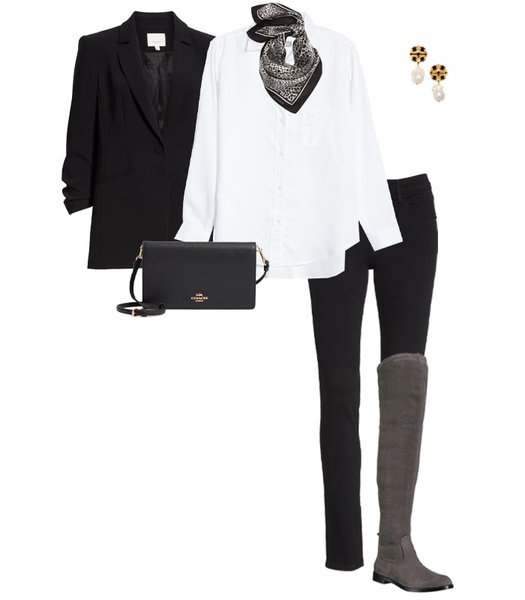 knee length flat shoes outfit | 40plusstyle.com