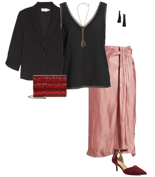 Christmas party outfit 6: Pastels   40plusstyle.com