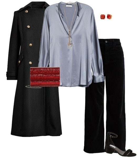 Christmas party outfit 5: Velvet | 40plusstyle.com