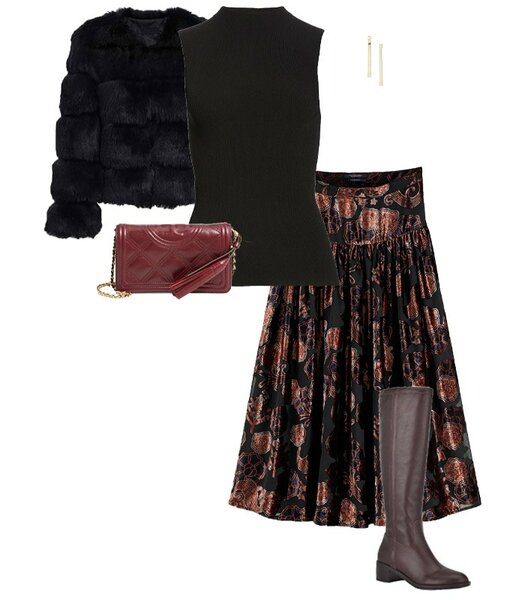 Bohemian glamour for New Year's Eve | 40plusstyle.com