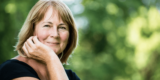 Smiling Mature Woman Outdoors in Eating Disorder Treatment