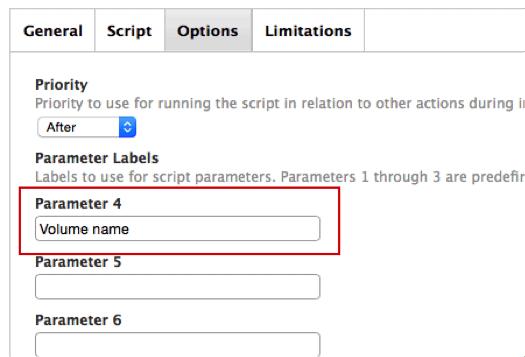 parameter labels