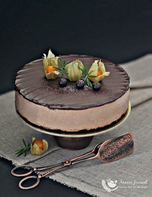 no-bake milo chocolate cheesecake