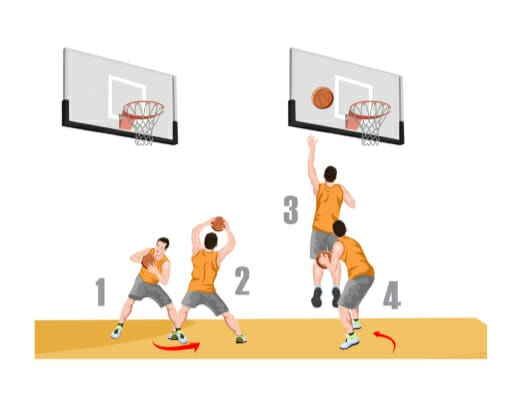 up and under basketball ballhandling drill
