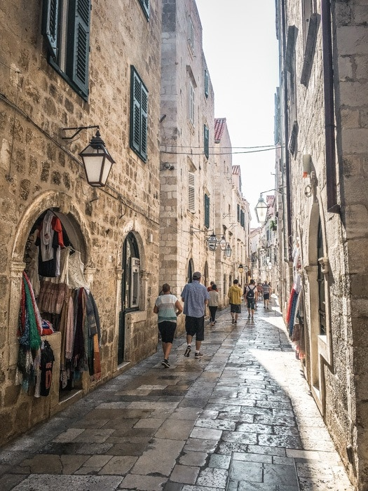 Walking Dubrovnik's narrow streets.