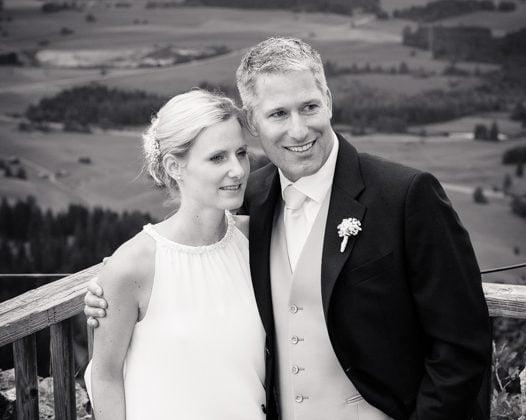 Hochzeitsfotograf Kempten Hochzeitspaar Aussicht