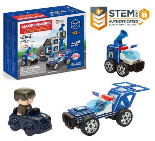 Magformers Police Gifts for 4 Year Old Boys