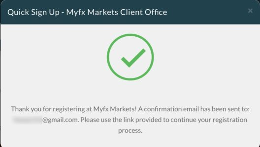 MyFX Markets口座開設2