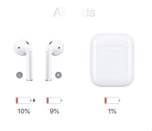 working battery level for i200 tws airpods