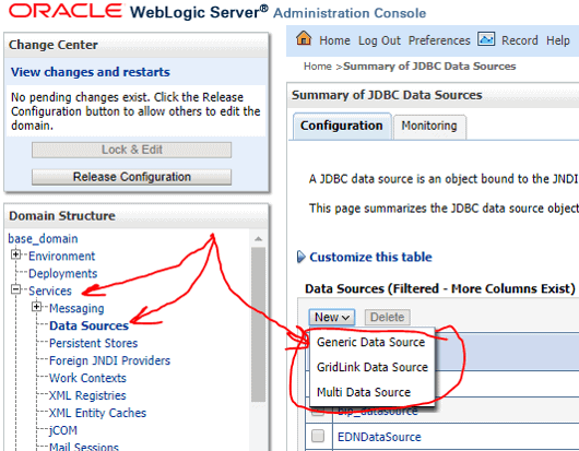 oracle weblogic server administration console