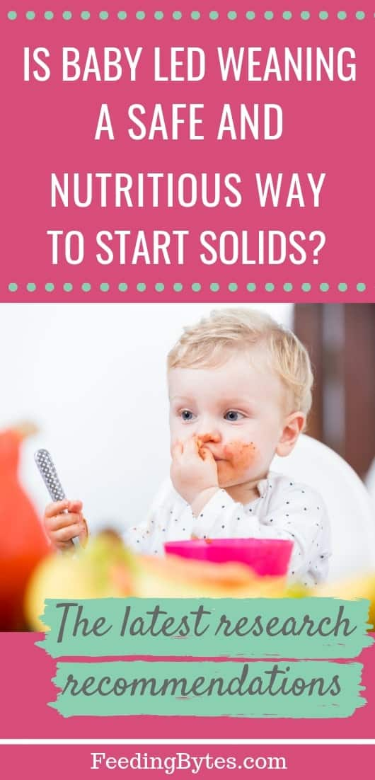 Is BLW a safe and nutritious method- baby eating by himself