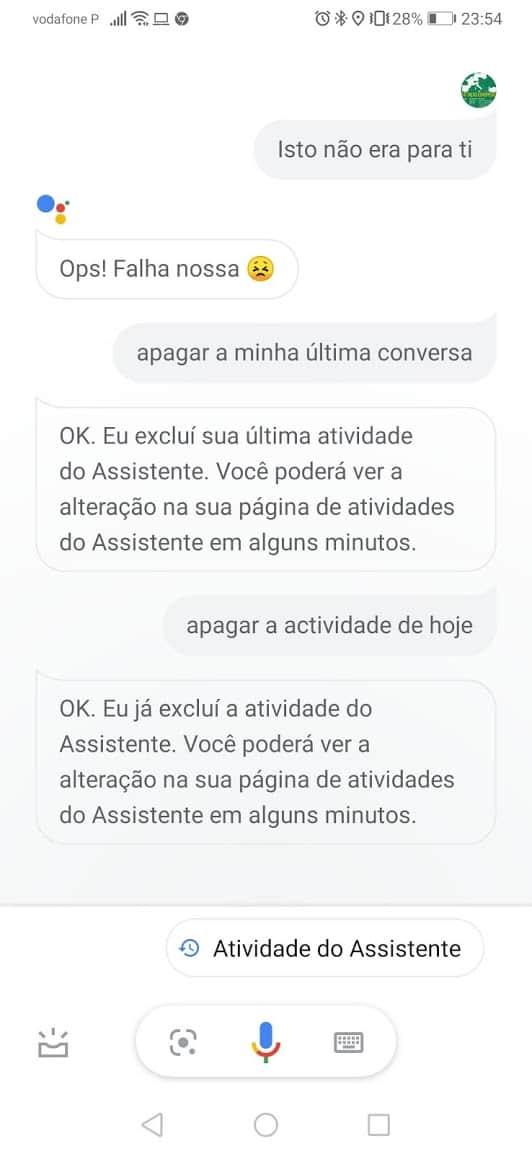 ao Assistente da Google