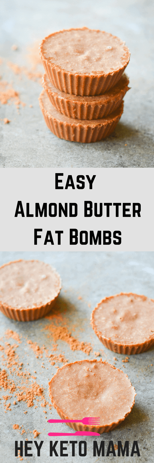 These Almond Butter Fat Bombs are very easy to make AND they're lick-the-bowl-delicious! With only 4 ingredients and less than 2 net carbs, you HAVE to try them the next time you need a sweet fix. | heyketomama.com