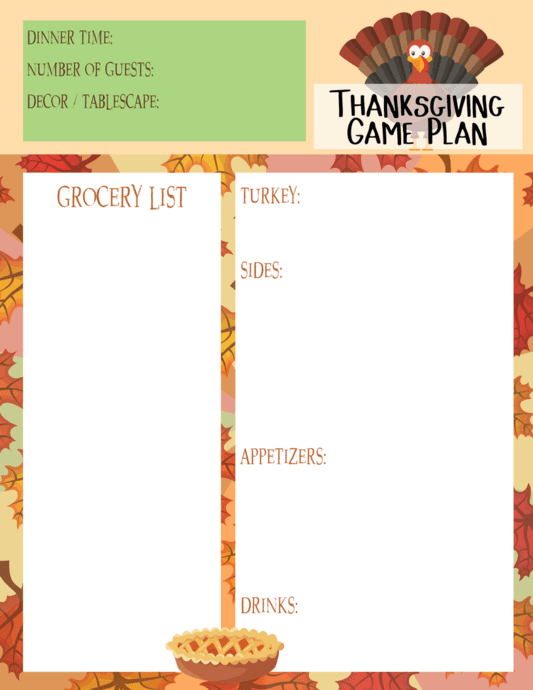 To help your planning go a little smoother too, I have included a free printable Thanksgiving Game Plan. Simply download and print to help jot notes and prepare for your feast. Favorite Thanksgiving Dishes