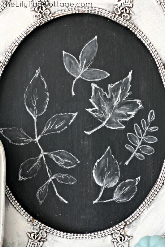 Leaf Chalkboard Art
